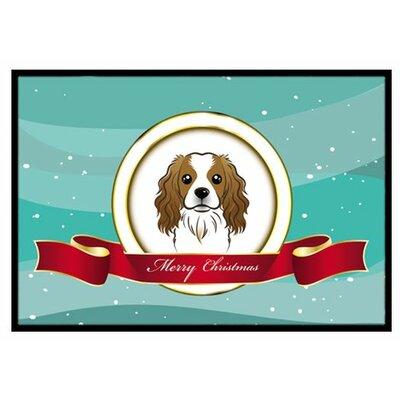 Cavalier Spaniel Merry Christmas Doormat Rug Size: 16 x 23