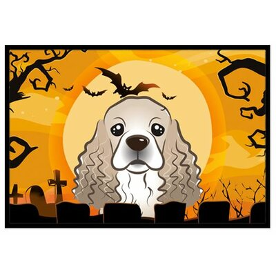 Halloween Cocker Spaniel Doormat Mat Size: 2 x 3