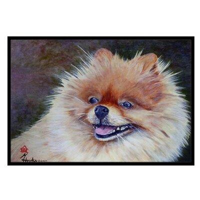 Pomeranian Head Doormat Rug Size: 16 x 23