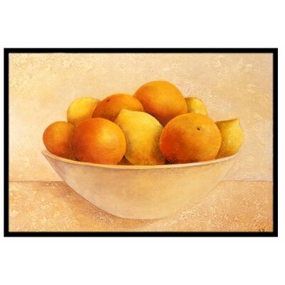 Oranges and Lemons in a Bowl Doormat Rug Size: 2 x 3