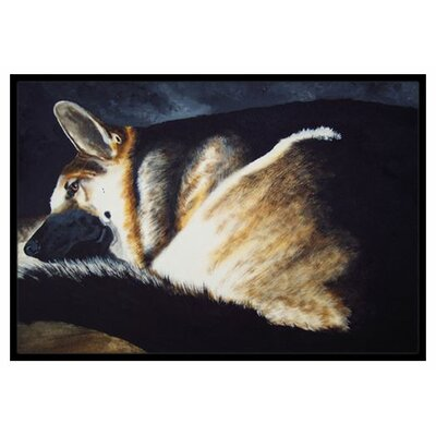 Day Dreamer German Shepherd Doormat Rug Size: 16 x 23
