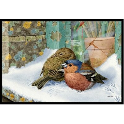 Chaffinches Doormat Rug Size: 16 x 23