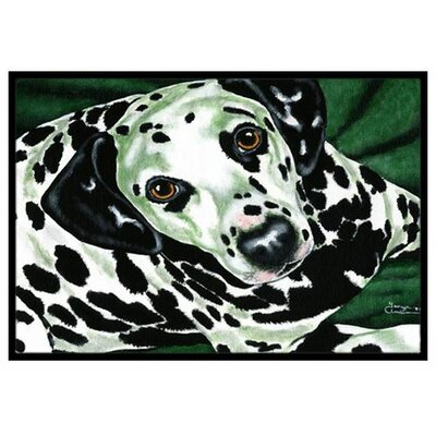Emerald Beauty Dalmatian Doormat Rug Size: 16 x 23