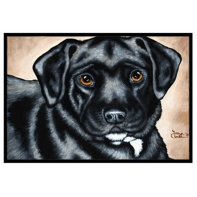 Bart the Labrador Doormat Mat Size: 16 x 23