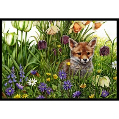 April Fox Doormat Mat Size: 16 x 23