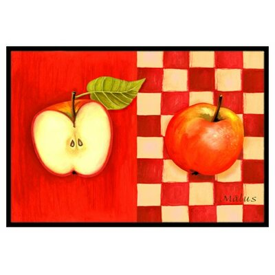 Apple Doormat Rug Size: 2 x 3