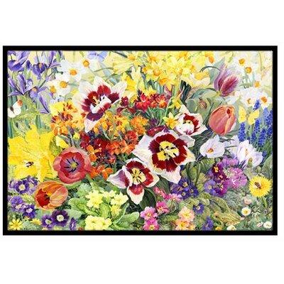 Spring Floral Doormat Mat Size: 16 x 23