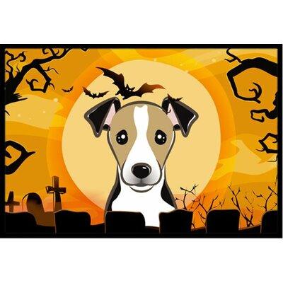 Halloween Jack Russell Terrier Doormat Rug Size: 16 x 23