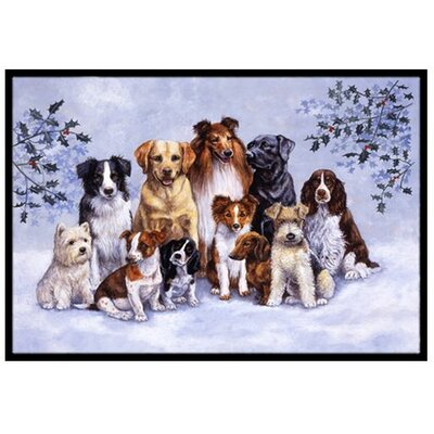 Winter Dogs Doormat Rug Size: 16 x 23