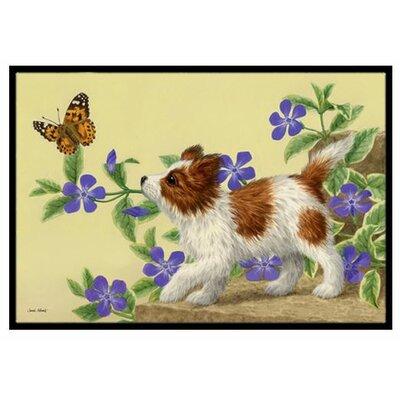 Papillon Pup Doormat Mat Size: 16 x 23
