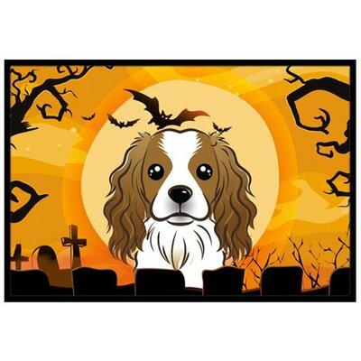 Halloween Cavalier Spaniel Doormat Rug Size: 16 x 23