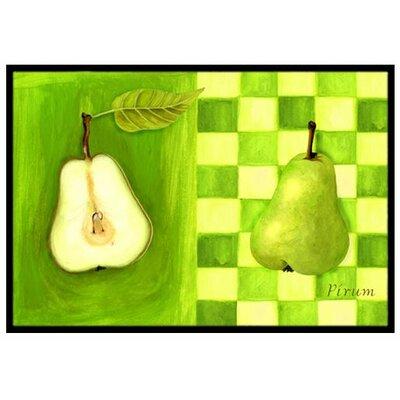 Pear Doormat Rug Size: 16 x 23