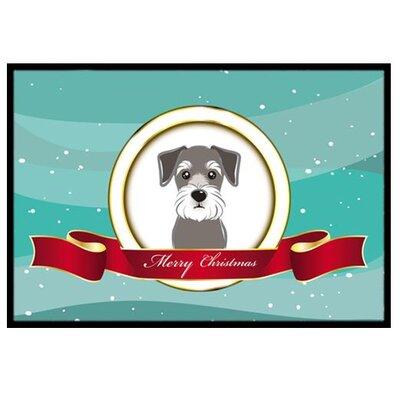 Schnauzer Merry Christmas Doormat Rug Size: 2 x 3