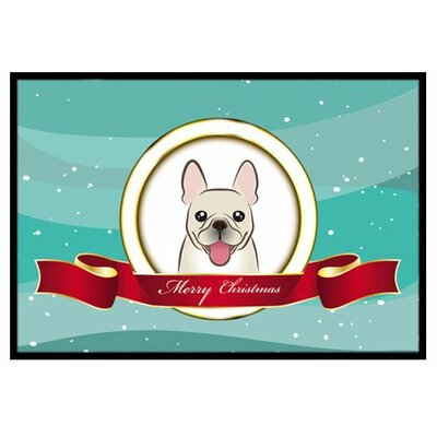 French Bulldog Merry Christmas Doormat Mat Size: 16 x 23