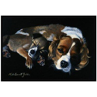 Cozy Pals with Cavalier Spaniel Doormat Rug Size: 16 x 23