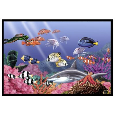 Undersea Fantasy 5 Doormat Rug Size: 2 x 3
