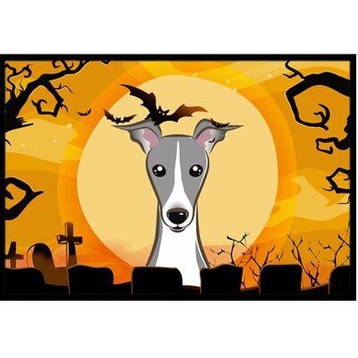 Halloween Italian Greyhound Doormat Rug Size: 2 x 3