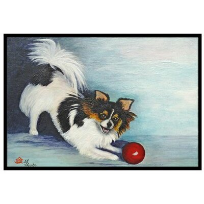 Chihuahua Play Ball Doormat Rug Size: 2 x 3