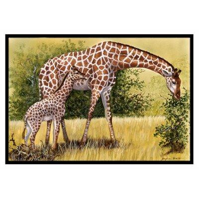 Giraffes Doormat Mat Size: 16 x 23