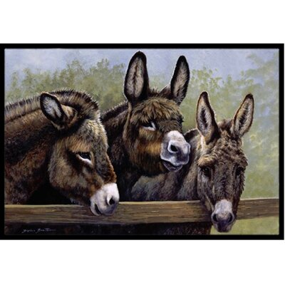 Donkeys Doormat Rug Size: 16 x 23