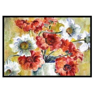 Flowers Doormat Rug Size: 2 x 3