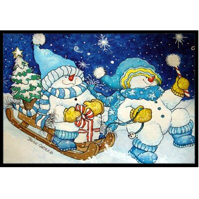 Celebrate the Season of Wonder Snowman Doormat Rug Size: 2 x 3