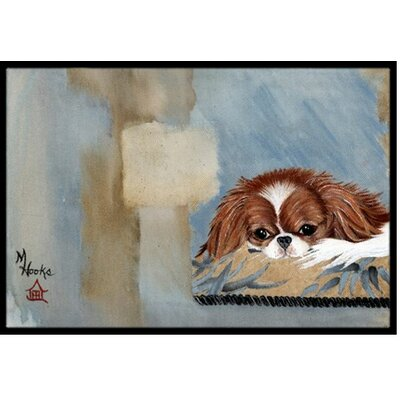 Japanese Chin Resting Doormat Rug Size: 1'6
