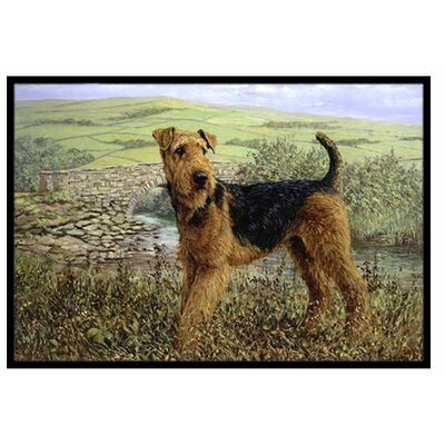 Airedale Terrier The Kings Country Doormat Rug Size: 16 x 23