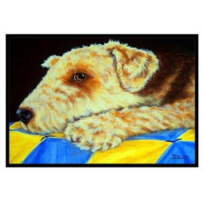 Airedale Terrier Mommas Quilt Doormat Mat Size: 2 x 3