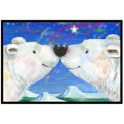 Polar Bears Kiss Doormat Rug Size: 2 x 3