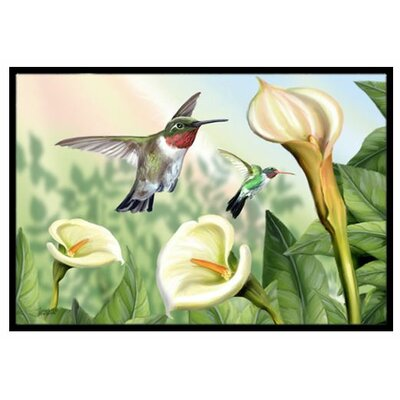 Lily and the Hummingbirds Doormat Rug Size: 2 x 3
