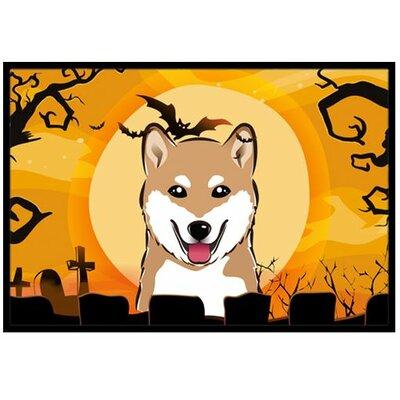 Halloween Shiba Inu Doormat Rug Size: 2 x 3