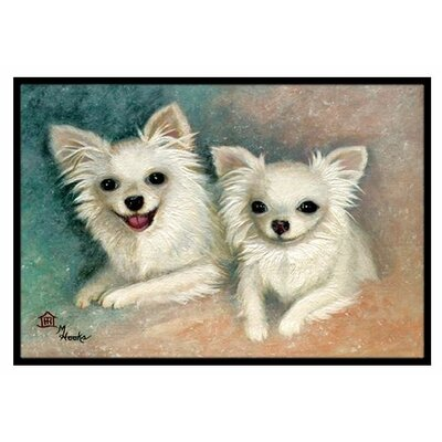 Chihuahua The Siblings Doormat Rug Size: 2 x 3