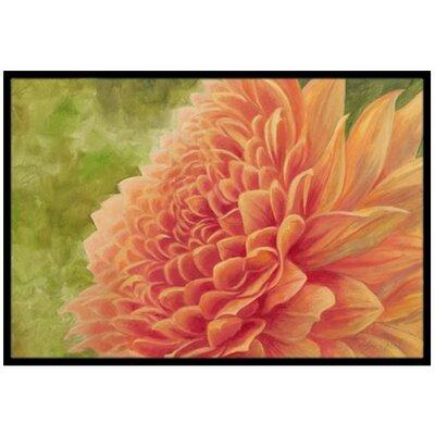 Floral Doormat Mat Size: 16 x 23