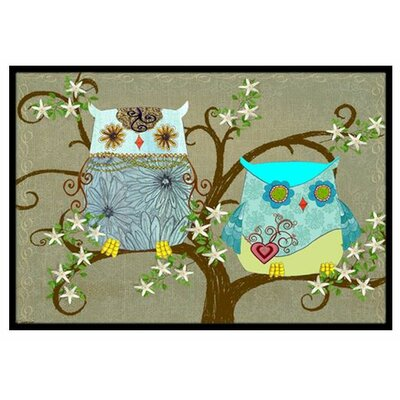 The Friendly Ladies Owl Doormat Rug Size: 16 x 23