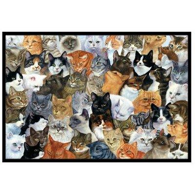 Cats Galore Doormat Rug Size: 16 x 23