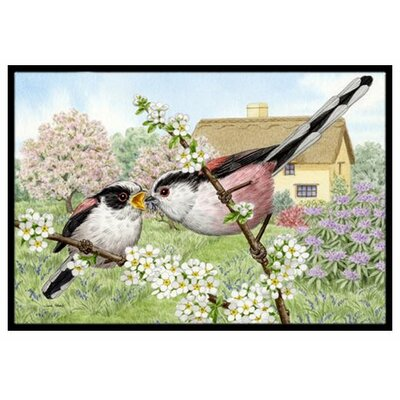 Long Tailed Tits Doormat Mat Size: 2 x 3