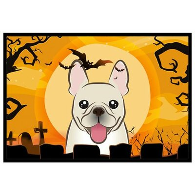 Halloween French Bulldog Doormat Rug Size: 16 x 23