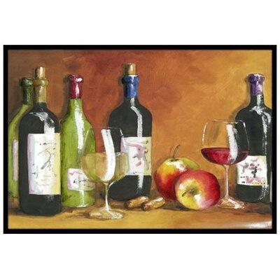 Wine Doormat Rug Size: 2 x 3