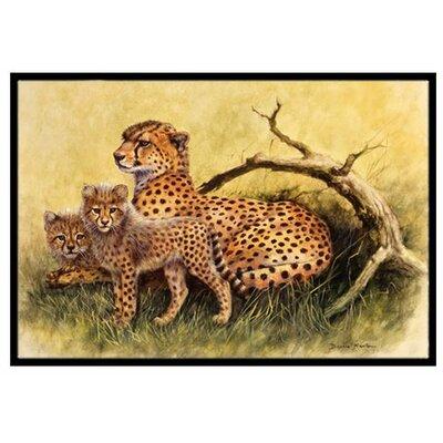 Cheetahs Doormat Rug Size: 2 x 3