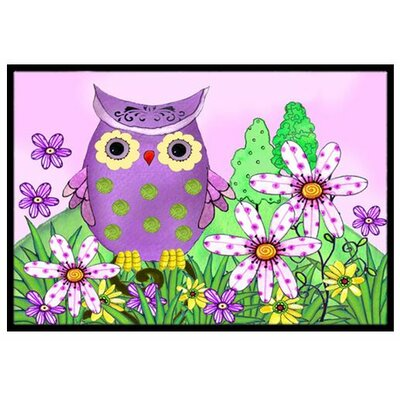 Who is Your Friend Owl Doormat Rug Size: 16 x 23