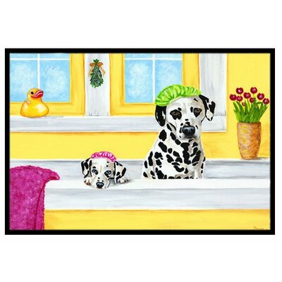 Bath Day Dalmatian Doormat Rug Size: 16 x 23
