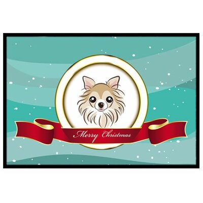 Chihuahua Merry Christmas Doormat Mat Size: 2 x 3