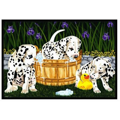 Pass the Soap Dalmatian Doormat Mat Size: 16 x 23