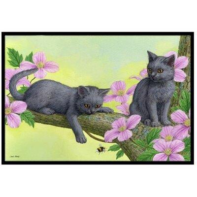 Chartruex Kittens Doormat Rug Size: 16 x 23