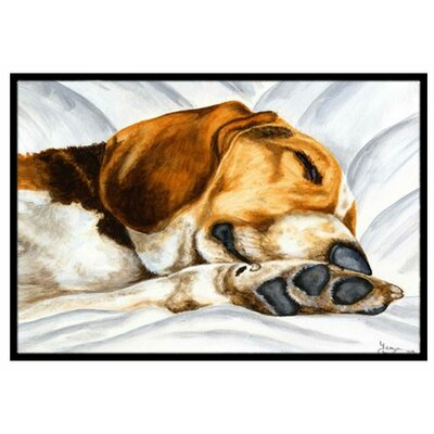 Beagle Bliss Doormat Mat Size: 16 x 23