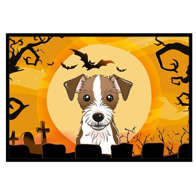 Halloween Jack Russell Terrier Doormat Rug Size: 2 x 3