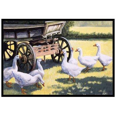 Geese Doormat Mat Size: 2 x 3