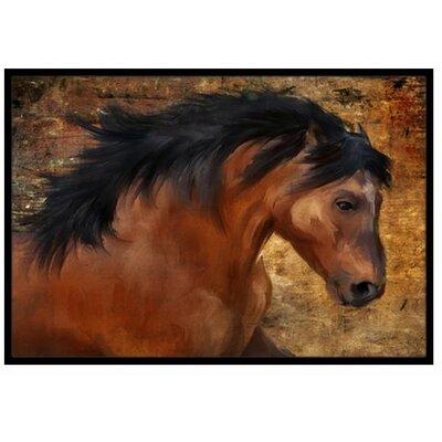 Wild Horse Doormat Rug Size: 2 x 3