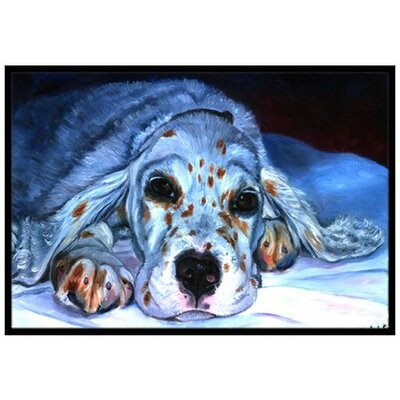 English Setter Pup Doormat Mat Size: 2 x 3